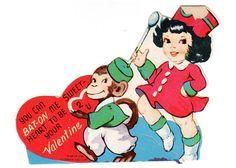 Vintage Valentines Day Greeting Card 1950s by vintagebarrelgreet