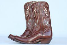 Beautiful mint vintage circa 1950's Acme cutout leather cowboy boots. $380.00, via Etsy.