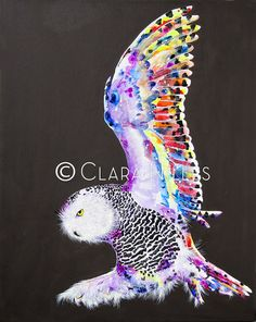 Snowy Owl on Cocoa Brown Snowy Owl, Cocoa, Dream Catcher, Whimsical, Owls, Artist, Fun, Animals, Bright