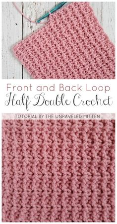 Easy Crochet Afghans Backa nd Front Loop Half Double Crochet Crochet Afghans, Crochet Stitches Patterns, Tunisian Crochet, Stitch Patterns, Knitting Patterns, Dishcloth Crochet, Crochet Blankets, Crochet Scarves, Baby Blankets