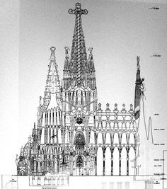 Gaudi drawing for La Sagrada Familia