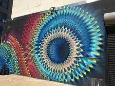 HIPNÓTICA ARTE CALEIDOSCÓPICA #arte #art #mural #grafite #streetart #miami #hoxxoh #cor #grafitti