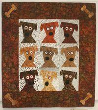 Dog Daze Quilt - love the bones in the corners
