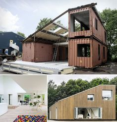 AY Arcgency Archeticts: WFH House--Resource Conscious Architecture that can be exported to any place in the world. It is more then architecture; It is a sustainable product. How to Make Upcycled Shipping Container House - Craftspiration - Handimania Container Architecture, Architecture Design, Sustainable Architecture, Residential Architecture, Contemporary Architecture, Container Habitable, Shipping Container Buildings, Shipping Containers, Shipping Container Cabin