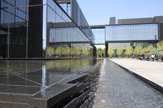 New U of O Hatfield Dowlin Complex outside Autzen Stadium: the duck pond