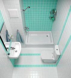 Дизайн маленькой зеленой ванной комнаты фото 37
