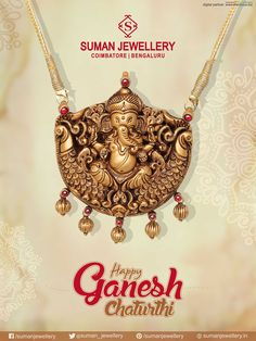 Wishing you Lord Ganesha fills your home with Prosperity & fortune. Suman jewellery wishes you Happy #Ganesh #Chatrurthi. #suman_jewellery #wishes #Ganesh_Chathurthi