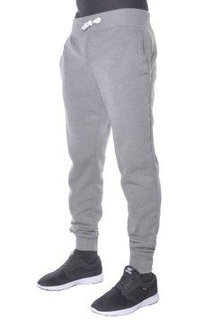 Mens BASIC JOGGER Fleece Pants Casual Athletic Gym Dance Slim Fit Active Harem