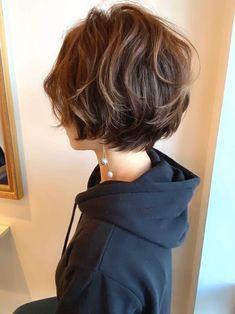 Short Permed Hair, Short Thin Hair, Permed Hairstyles, Short Hair Cuts, Tomboy Hairstyles, Shot Hair Styles, Curly Hair Styles, Oval Face Haircuts, Korean Short Hair