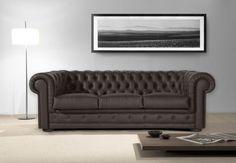 Sofa CHESTER tapizado en piel de vaca 100% fabricado en España – SIDIVANI