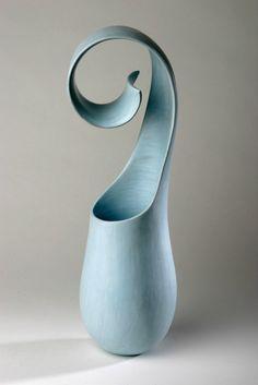 Tina Vlassopulos pottery for contemplation. Reuse a plastic bottle, cut shape,melt,plaster or paper mâché then paint