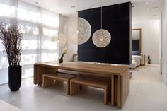 Interesting Japanese Theme Wooden Dining Table And Black Fireplace For Melbourne Dining Table Set Idea