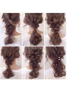 ブランド不明のトップスを使ったwadamiyukiのコーディネートです。WEARはモデル・俳優・ショップスタッフなどの着こなしをチェックできるファッションコーディネートサイトです。 Bride Hairstyles, Summer Hairstyles, Messy Hairstyles, Pretty Hairstyles, Long Curly Hair, Curly Hair Styles, Curly Hair Problems, Hair Arrange, Hair Setting