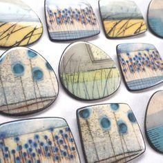 Ceramic Pendant, Ceramic Jewelry, Enamel Jewelry, Ceramic Beads, Clay Jewelry, Jewellery, Glazed Ceramic Tile, Ceramic Fish, Ceramic Pottery