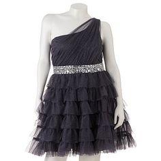 128d831d441ba Trixxi Beaded Asymmetrical Dress - Juniors  Plus Junior Homecoming Dresses