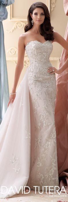 The David Tutera for Mon Cheri Spring 2015 Wedding Dress Collection - Style No. 115225 Cielo   davidtuteraformoncheri.com  #weddingdresses
