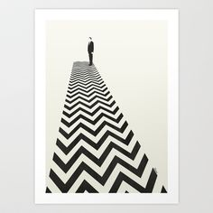 Twin Peaks Minimalist Poster Art Print by Kristjan Lyngmo - $16.00