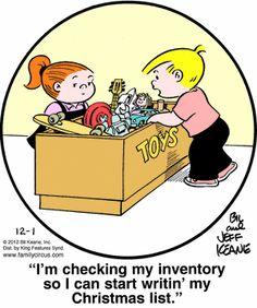 Family Circus Cartoon for Dec/01/2012