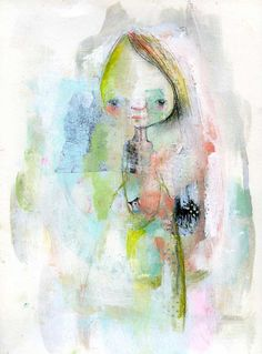 Wild Simplicity - mixed media art print by Mindy Lacefield