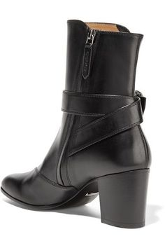 Gucci - Dionysus Leather Ankle Boots - Black - IT