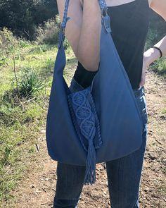 destiny blue hobo bag Leather Clutch, Calf Leather, Handmade Bags, Hobo Bag, Italian Leather, Hand Stitching, Destiny, Hand Sewing, Calves