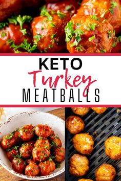 Meatballs without the carbs? Count me in! This Gluten Free Turkey Meatballs recipe is every bit as good as the original. Perfectly tender meatballs in a tangy sauce will keep you coming back for more. #kickingcarbs #ketoairfryer #easyrecipes #ketodinnerrecipes #airfryermeatballs #ketorecipes