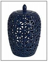 Blue Ceramic Jar - Small