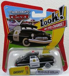 Disney / Pixar CARS Movie 1:55 Die Cast Car with Lenticular Eyes Sheriff by Toy Rocket. $23.95. For Ages 3 & Up. Disney Pixar Cars Lenticular Eyes Collection 1:55 scale die cast car from Mattel. Sheriff Disney Lenticular Eyes 1:55 Scale Mattel