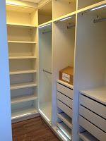 Grazi, esse é pra você, fotinhos que me pediu! O closet está quase pronto, faltam apenas algumas prateleiras que não estavam previstas ...
