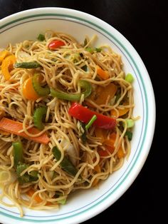 Perfect Veg Hakka noodles - indo chinese is a basic easy stir fry noodles that can be enjoyed on it's own or with your choice of gravy or veggies.