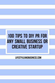Want to learn how to generate national PR for your creative startup or small business? We can help. Check out these top tips to help make your brand stick in today's overly crowded market.
