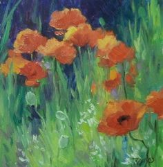 Landscape Artists International: Impressionist Landscape Paintings, Poppies, Laura ...