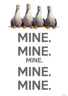 Finding Nemo 3D seagulls poster