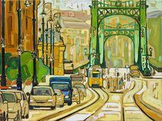 Budapest, Vámház krt Szabadság híd VIII  2014 olaj-vászon 60x80