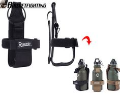 ROGISI Military Tactical Molle Canteen Bottle Cover for Water Bottle Pouch Black