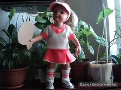 Пока она была в пути я связала ей костюм теннисистки / Куклы Gotz - коллекционные и игровые Готц / Бэйбики. Куклы фото. Одежда для кукол