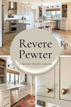 Cabinet Paint Colors, Kitchen Cabinet Colors, Painting Kitchen Cabinets, Kitchen Paint, Kitchen Redo, New Kitchen, Kitchen Remodel, Tan Kitchen Cabinets, Kitchens With Painted Cabinets