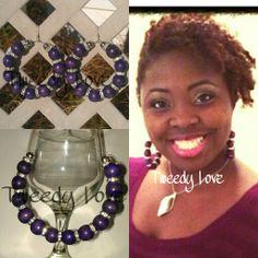 Wearing Poison Purple Hoop Earrings...