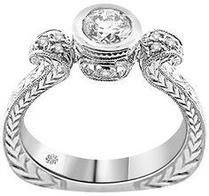 .77 Carat Floria Diamond 14Kt White Gold Engagement Ring - Fashion