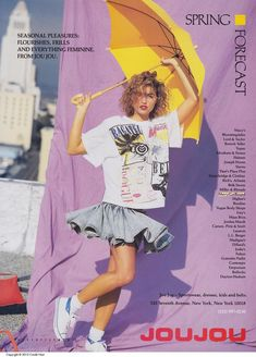 Vogue Feb 1988 Jou Jou | Jessica Davis | Flickr 80s Girl Fashion, Love Fashion, Vintage Outfits, Vintage Fashion, 80s Aesthetic, Valley Girls, 80s Outfit, 1980s, 80s Ads