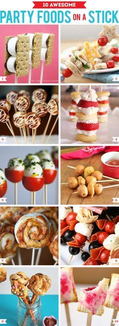 10 awesome party foods on a stick for your #SharkWeek viewing party