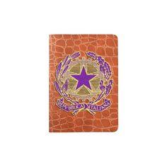 Repubblica Italiana Viola Oro Passport Holder
