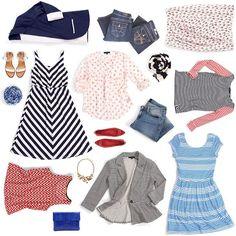Stitch Fix spring favorites! #stripes #polkadots #chevron #denim