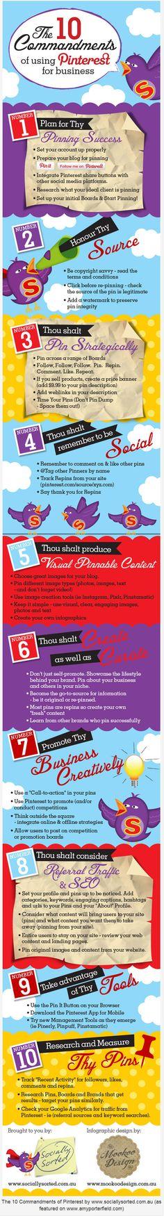 10 Pinterest Commandments