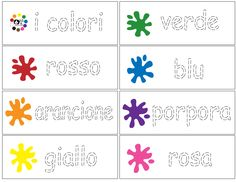 Italian - Color Trace - Writing Practice - laminate and use dry erase markers