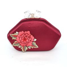 27.79$  Buy here - https://alitems.com/g/1e8d114494b01f4c715516525dc3e8/?i=5&ulp=https%3A%2F%2Fwww.aliexpress.com%2Fitem%2FFashion-peony-Flower-Wine-red-Luxury-Clutch-Evening-Bag-embroidery-Party-Handbags-Deep-red-Crystal-lock%2F32760828202.html - Fashion peony Flower Wine red Luxury Clutch Evening Bag embroidery Party Handbags Deep red Crystal lock Wedding Bag Clutches 825 27.79$