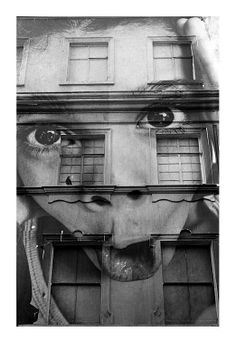 building with photo art - French street artist