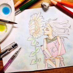 kiss the sun | #mekaworks #drawing