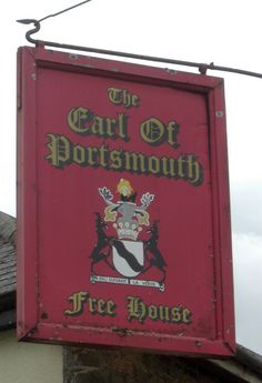 In Chawleigh Devon the Earl of Portsmouth pub sign once the Portsmouth Arms