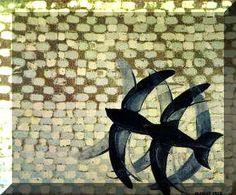 La belleza de la velocidad: Giacomo Balla_Mediante un motivo sencillo, una pareja de golondrinas sobre un fondo de pinceladas, multiplica los estudios del natural. Balla desemboca en una soluciones cada vez más complejas hasta producir, en el otoño de 1913, la combinación del movimiento de las golondrinas junto al movimiento ocular del espectador.